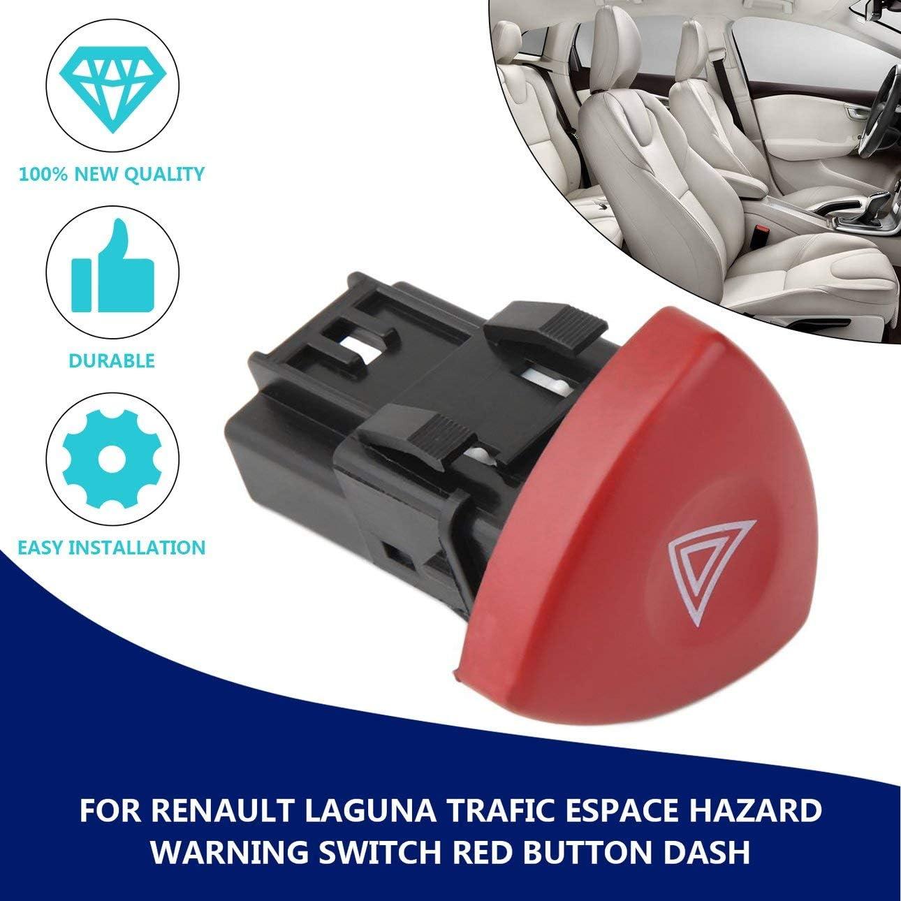 Ballylelly Commutateur avertisseur de d/étresse avertisseur de d/étresse Schalter pour Renault LaToola Master Trafic II Vauxhall 01-14