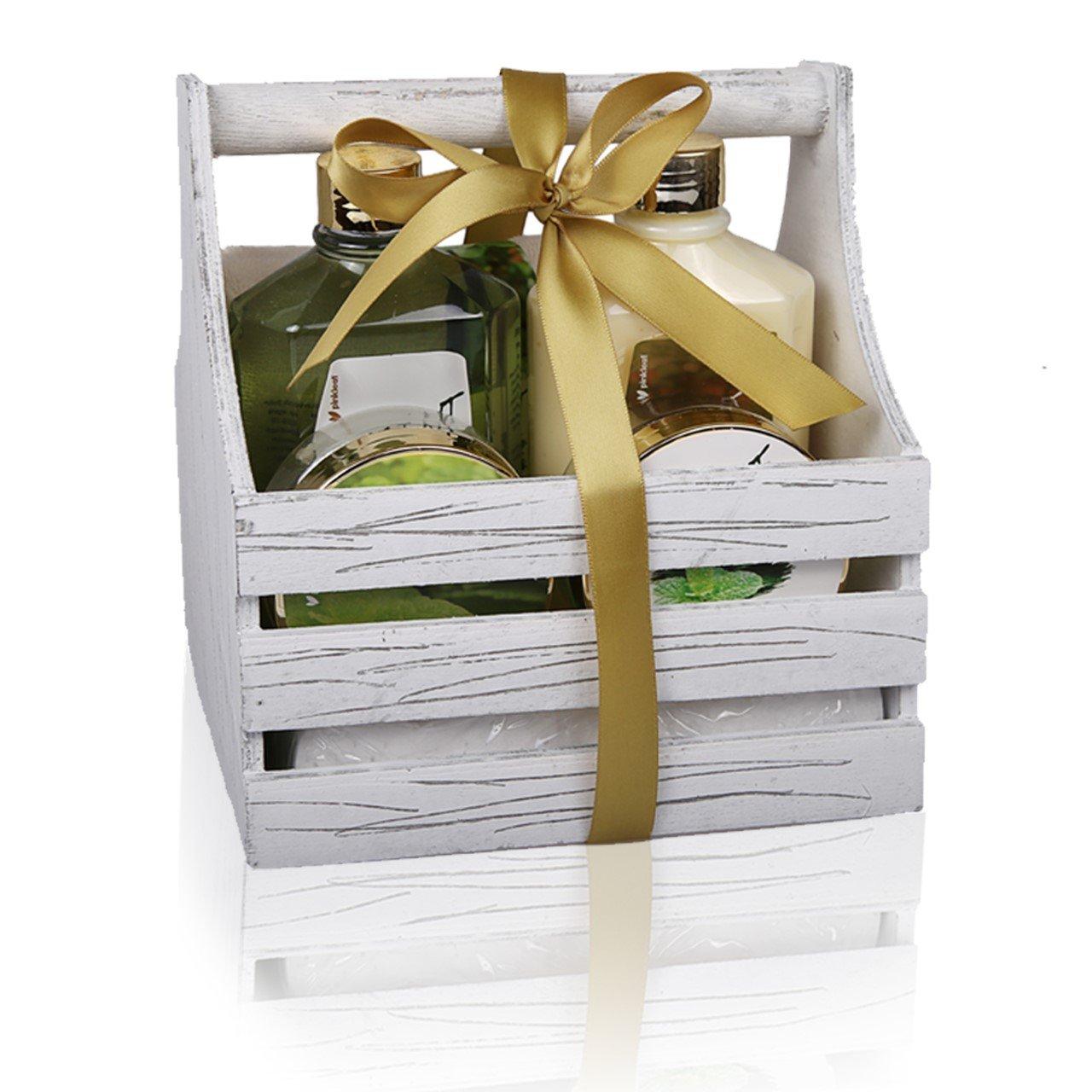 Amazon.com : Peppermint Bath & Body Care Gift Set - 5pc Scented ...