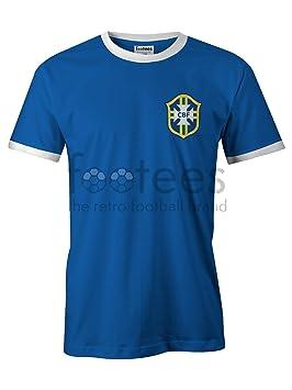 Camiseta de fútbol no oficial de estilo retro de Brasil para hombre, verde y amarillo, XL: Amazon.es: Deportes y aire libre