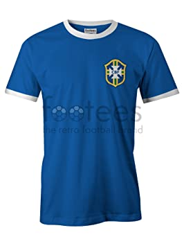 Camiseta de fútbol no oficial de estilo retro de Brasil para hombre, verde