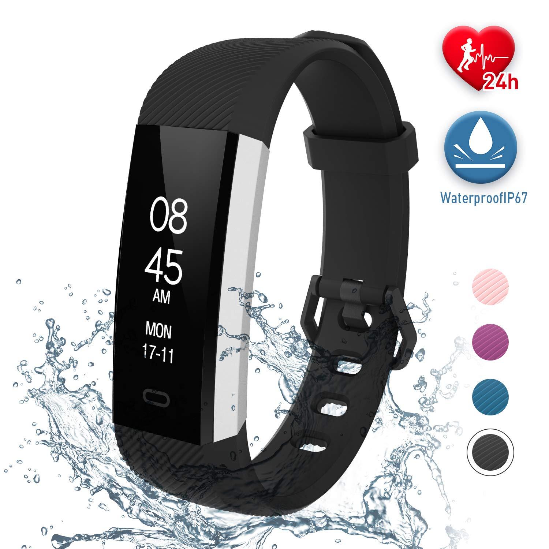 fitpolo Montre Connectée Etanche, Fitness Tracker dActivité avec Cardiofréquencemètre,Moniteur de Sommeil,Podomètre,Calories Bracelet Intelligent ...