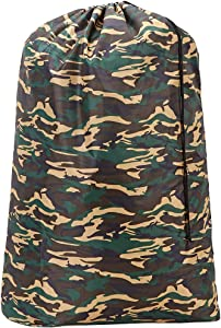 HOMEST Camouflage Travel Laundry Bag, 28 x 40 Inches Rip-Stop Nylon Heavy Duty Dirty Clothes Bag with Drawstring, Laundry Basket or Hamper Liner, Machine Washable, Anti-Odor