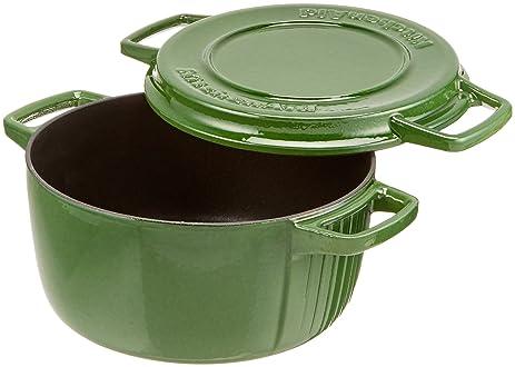 KitchenAid KCPI40CRIG Professional Cast Iron 4 Quart Casserole Cookware    Ivy Green