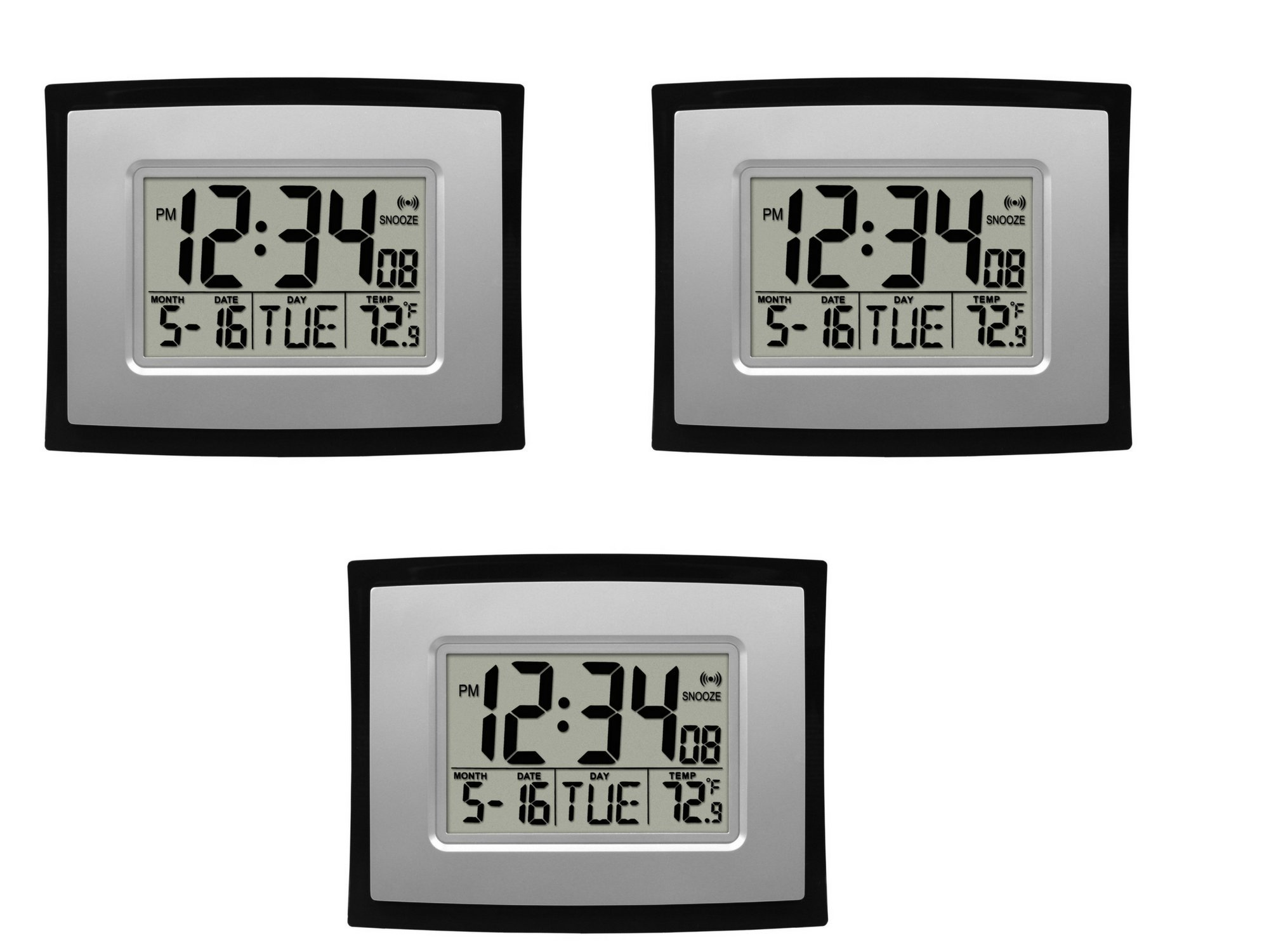 La Crosse Technology WT-8002U Digital Wall Clock (3 pack)