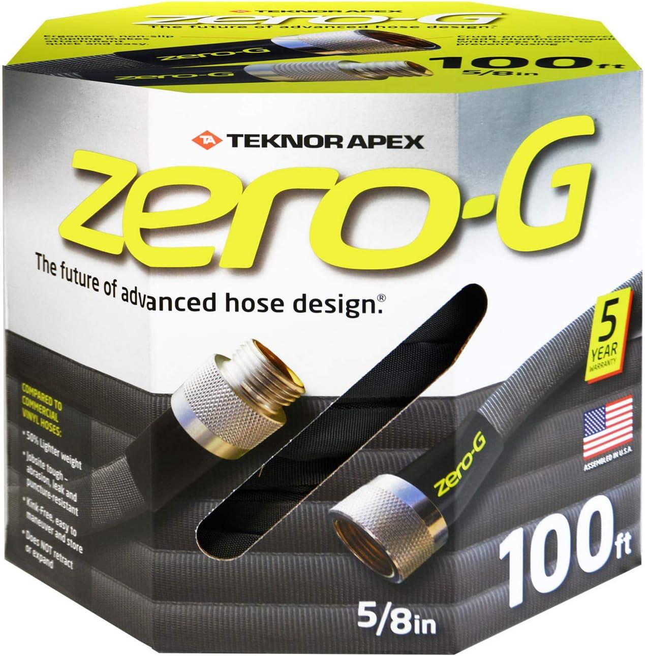 """zero-G 4001-100 Garden Hose, 5/8"""" x 100', Gray : Garden & Outdoor"""