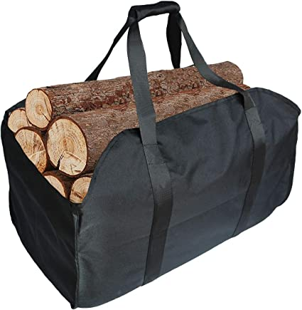 Large Firewood Carrying Log Carrier Bag Stove Wood Storage Bag Waterproof