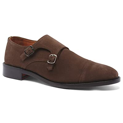 Anthony Veer Men's Roosevelt II Monk Strap Full Grain Leather Dress Office Formal Wedding Casual Shoes in Goodyear Welt | Oxfords