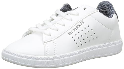 Le Coq Sportif Courtset GS Craft Optical White/Dress Bl, Zapatillas para Niños: Amazon.es: Zapatos y complementos