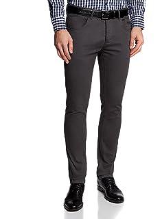 oodji Ultra Hombre Pantalones Básicos de Algodón: Amazon.es: Ropa y accesorios