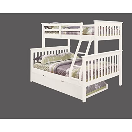 Amazon Com Donco Bunk Bed Twin Over Full Mission Style With Trundle