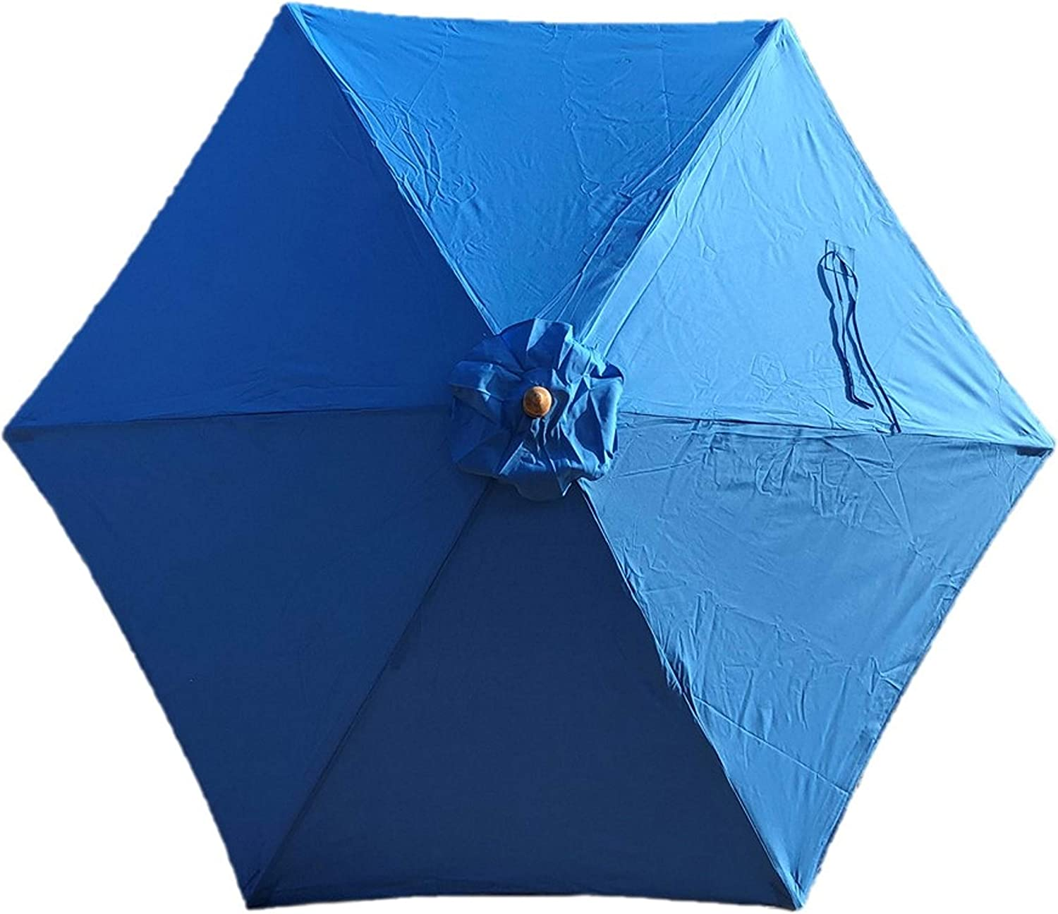 Formosa Covers 9ft Umbrella Replacement Canopy 6 Ribs in Royal Blue or Light Blue (Canopy Only) (Capri Blue)