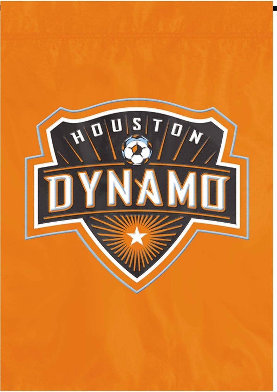 Houston Dynamo プレミアムガーデンフラッグアップリケ&刺繍バナー サッカー MLS
