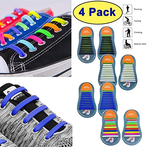 1904e0342217 Amazon.com  No Tie Shoelaces for Kids and Adults Elastic Silicone Shoe  Laces for All Sneaker  Shoes