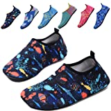 QTMS Kids Boys Girls Water Shoes Barefoot Quick Dry Aqua Socks Swim Shoes (Toddler)-004Blue-20