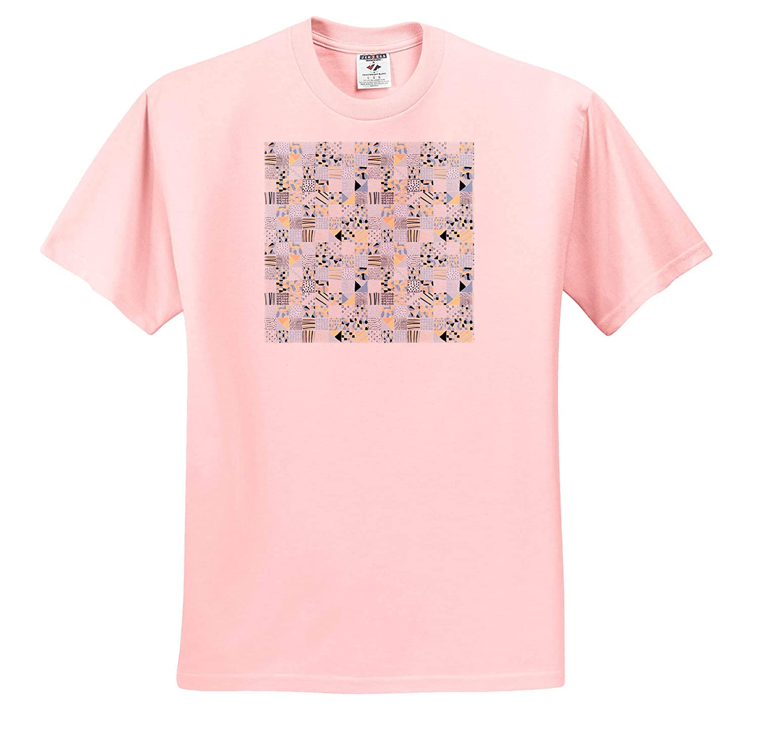 T-Shirts 3dRose Alexis Design Pattern Geometrical Beautiful Abstract Pattern of Shapes and Forms in Squares