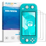 PLESON Tempered Glass Screen Protector for Nintendo Switch Lite 2019 (3 Pack), [ Lifetime Replacement ] 2.5D/0.26mm/Bubble Free/Anti Scratch/HD Clear, Glass Film Screen Protector for Switch Lite