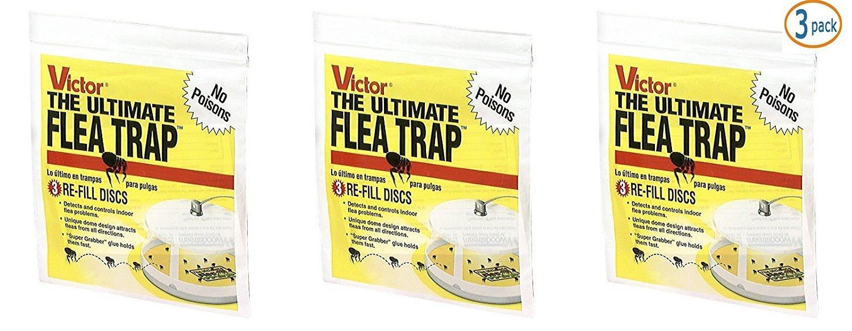 Victor M231 Ultimate Flea Trap Refills, (3 Packs of 3 refills)
