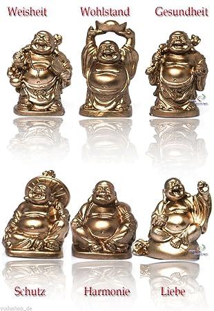 Amazon De Yudu 6 Stuck Verschiedene Buddha Figuren Glucksbringer
