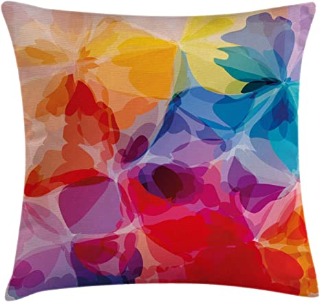 Rainbow Abstract Pattern Throw Pillow Case Cushion Cover Sofa Bed Decor 45x45cm