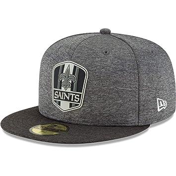 New Era 59Fifty Cap - Black Sideline Orleans Saints  Amazon.co.uk ... c4d7ad44d