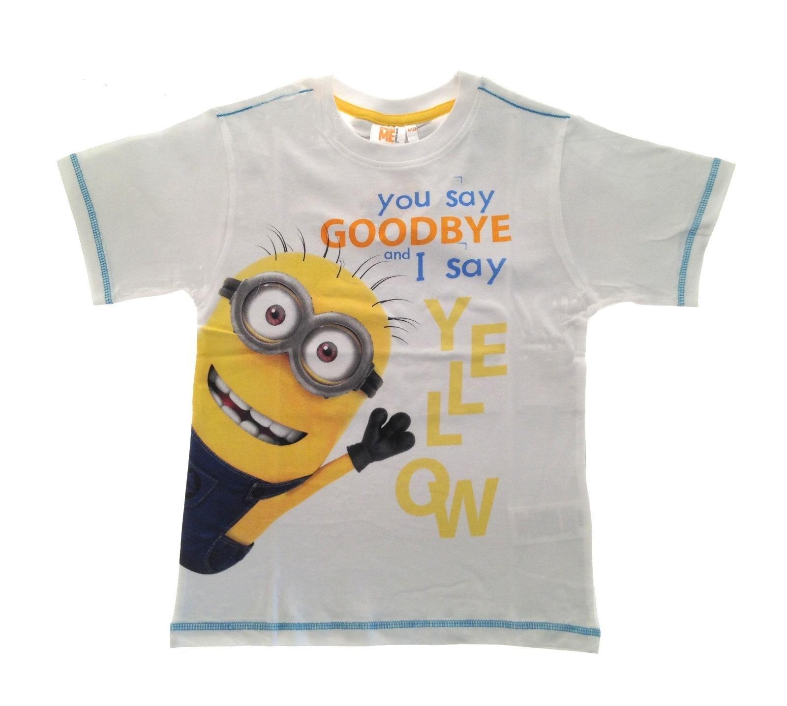 Minions t-shirt short sleeve crew neck summer  cotton boys