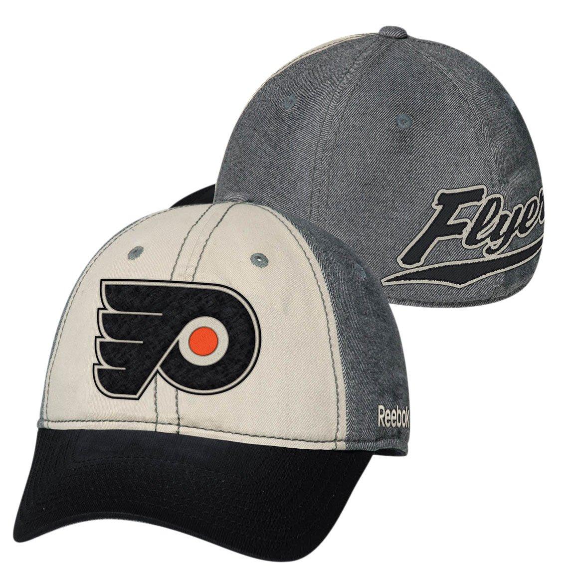 384aa9b8 Amazon.com : Reebok Philadelphia Flyers Face-Off Slouch Flex Fit Hat ...