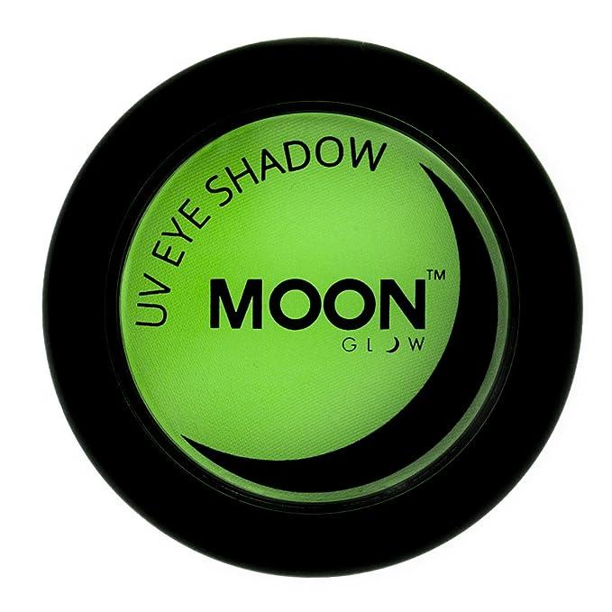 Sombra de ojos uv de color verde lima fluorescente