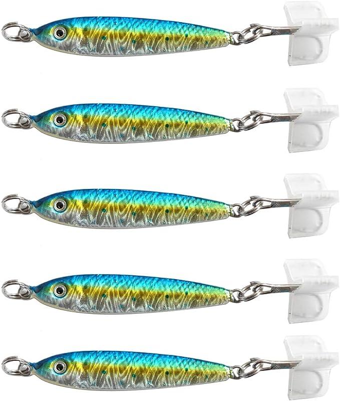1.5oz Mega Live Bait Metal Jigs Sardine 6 Pieces Saltwater Fishing Lures
