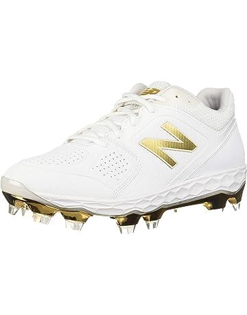 New Balance Womens Velo V1 Molded Baseball Shoe White/Gold 6 ...