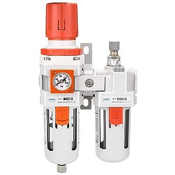 Two-Piece 1//2 NPT Filter Regulator Lubricator Operating Pressure: 145 psi