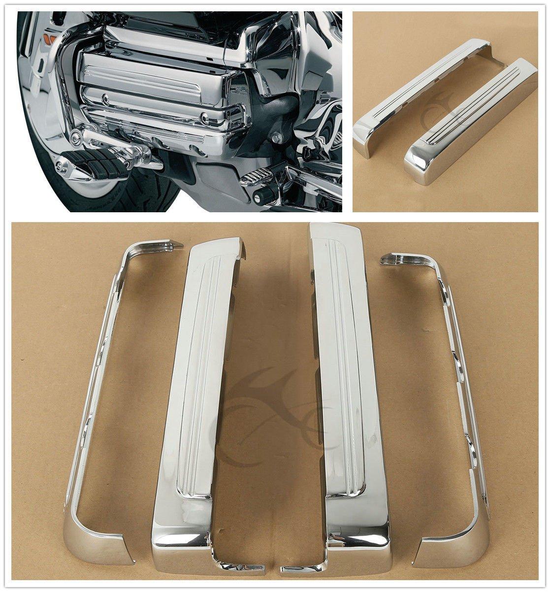 TCMT Chrome Lightning Valve Cover Set Chrome Fits For Honda GL1800 Gold Wing 2001-2016