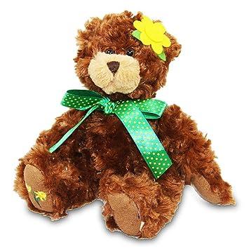 4 x oso de peluche Flores oso sentado 17 cm muy suave oso de peluche oso