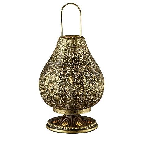 Lámpara de mesa de estilo oriental de metal - diámetro de 19 ...