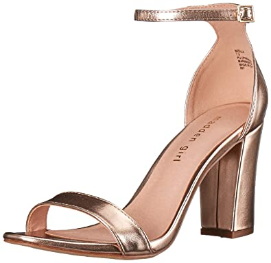 133b4522175 Madden Girl Women s BEELLA Heeled Sandal Rose Gold 8.5 ...