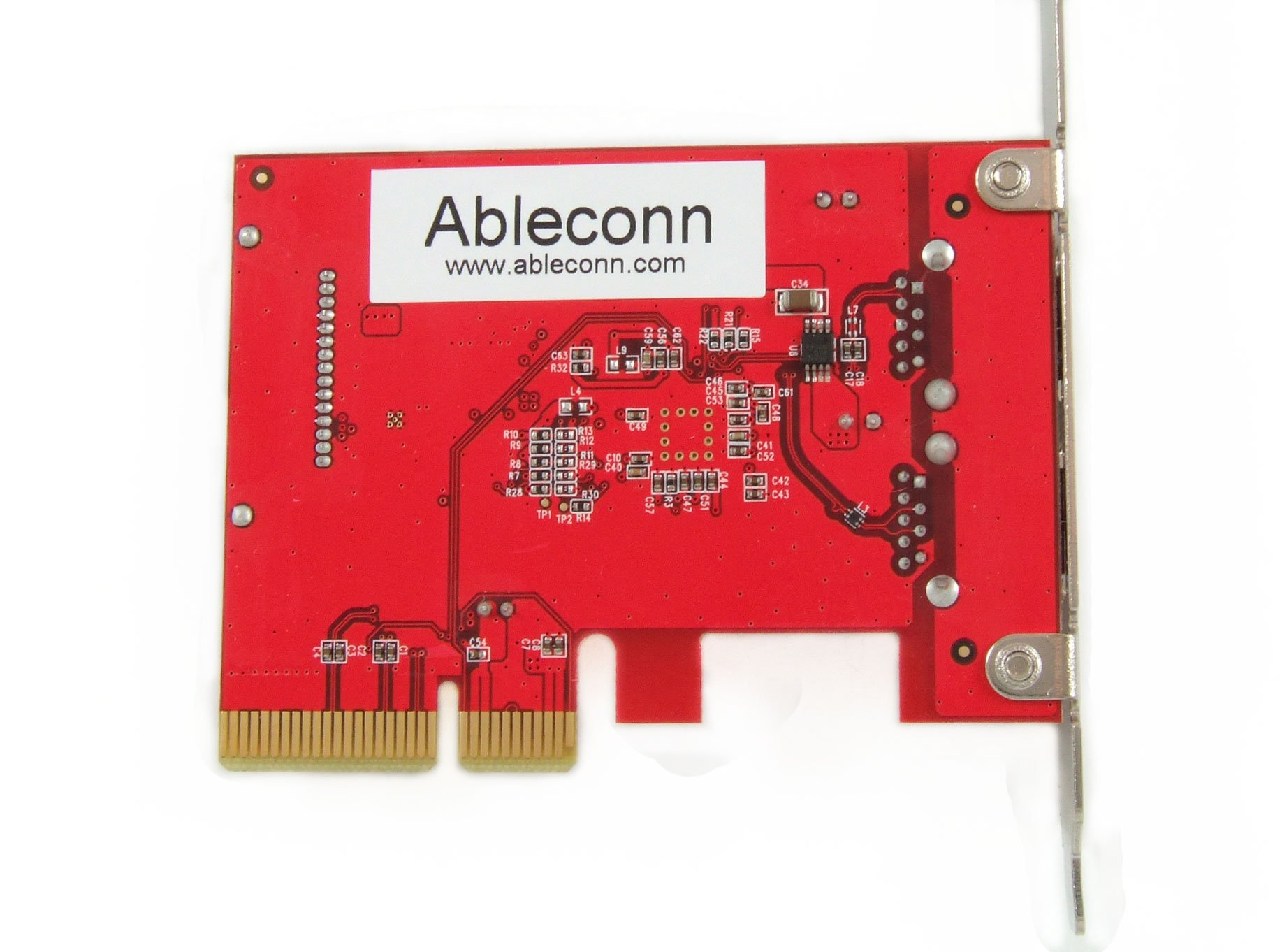 Ableconn PUSB31P2A USB 3.1 Gen 2 (10 Gbps) 2-Port Type-A PCI Express (PCIe) x4 Host Adapter Card - Support MacOS 10.12/10.13 and Windows 10/8