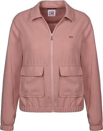 8bd4d22fe Lacoste Women s Jacket Pink - - X-Small  Amazon.co.uk  Clothing