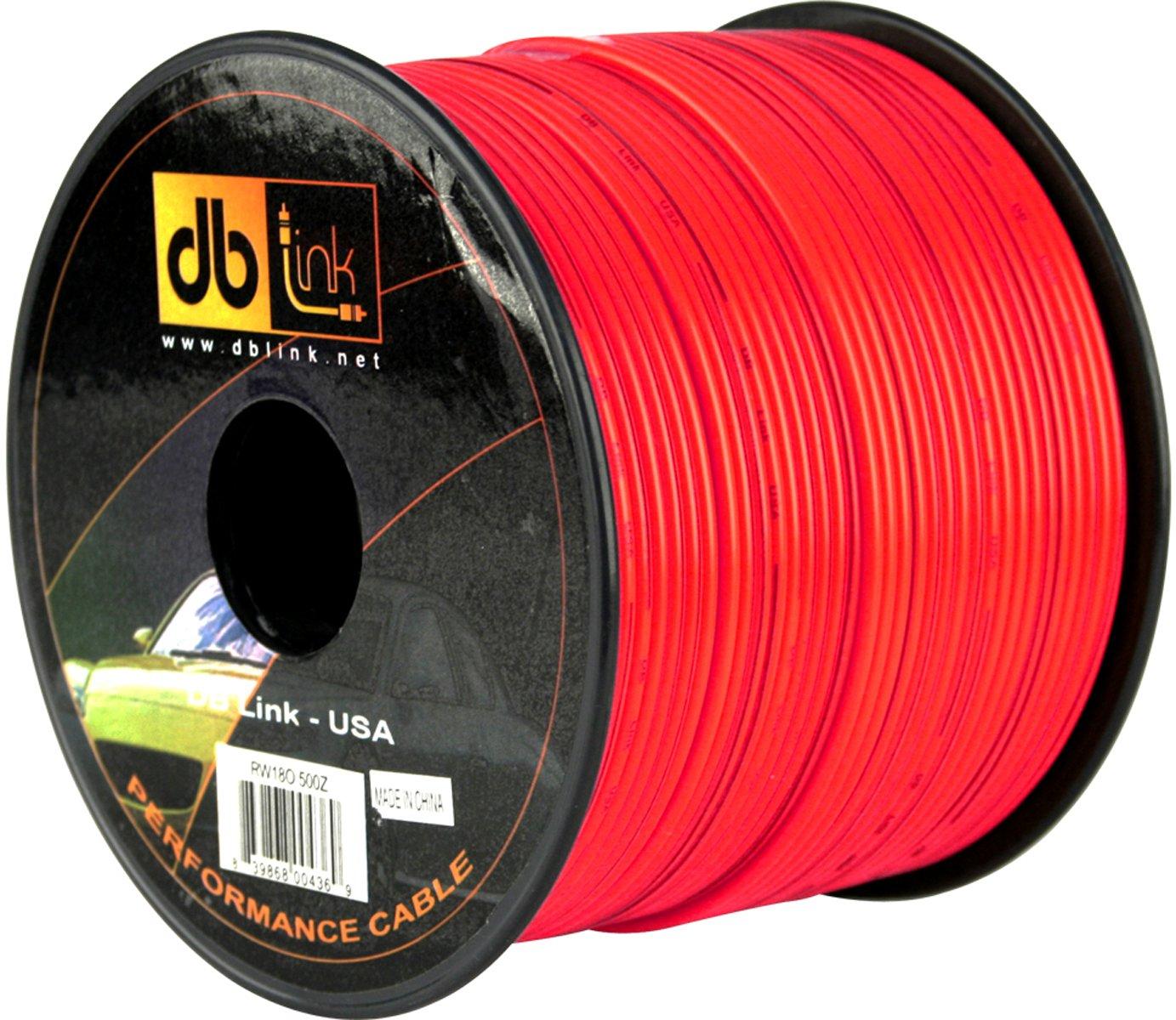 db Link SFRW18R500Z StrandFlex Power Wire Spools Round Jacket Red