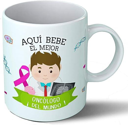 Planetacase Taza Desayuno Aquí Bebe el Mejor oncologo del Mundo Regalo Original Medicina Ceramica 330 mL: Amazon.es ...