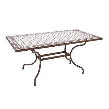 ARREDinITALY Table d\'extérieur 160 x 90 cm avec Plateau ...