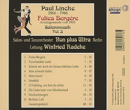 Salonmusik,Vol.3: Non Plus Ultra Berlin, Paul Lincke: Amazon ...