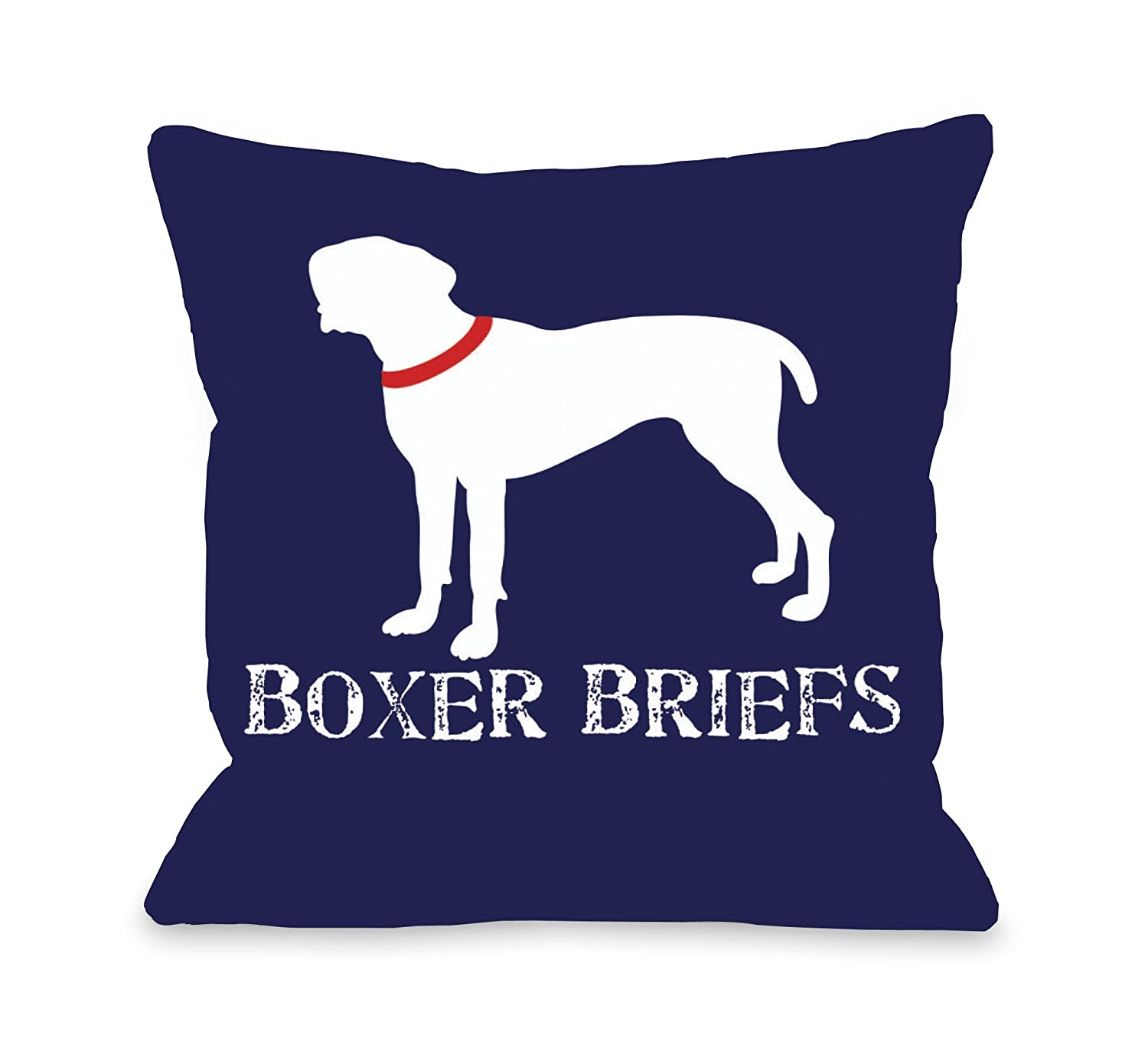 One Bella Casa Boxer Briefs Throw Pillow, 16 by 16-Inch