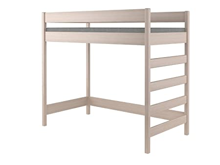 140x70x160, White Hubi Loft Bunk Bed front enter