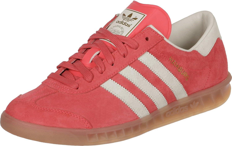 adidas Hamburg Trainers - Red / White / Gum - 7.5: Amazon.co.uk ...