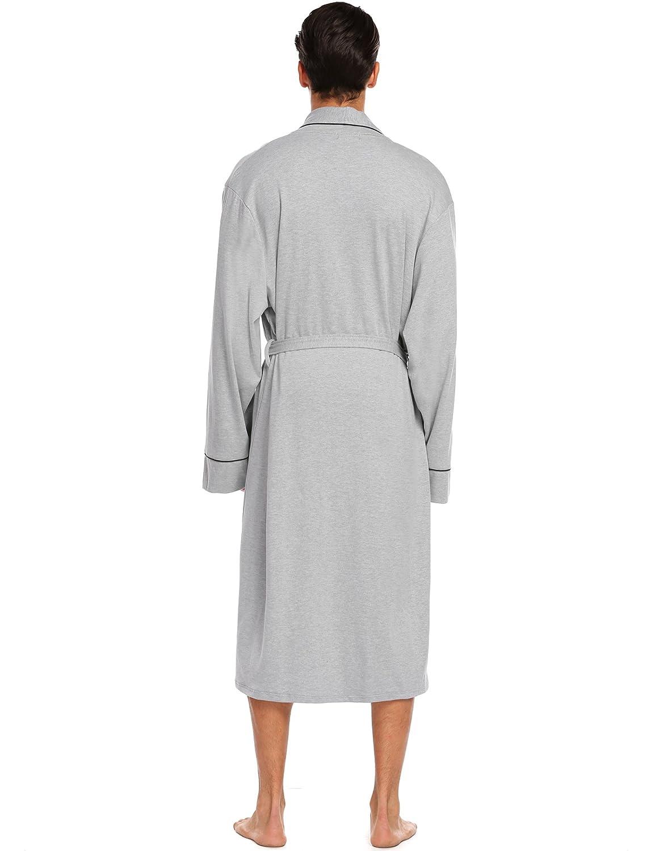 Untlet Luxilooks Bathrobe Mens Cotton Spa Robes Lightweight Bath Robe  Lounge Sleepwear at Amazon Men s Clothing store  d3e823332