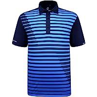 SAVALINO Men's Bowling Polo Shirts Material Wicks Sweat & Dries Fast