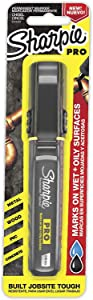 Sharpie Pro Permanent Marker, Medium, Chisel Tip, Black Marker (2018329) - New