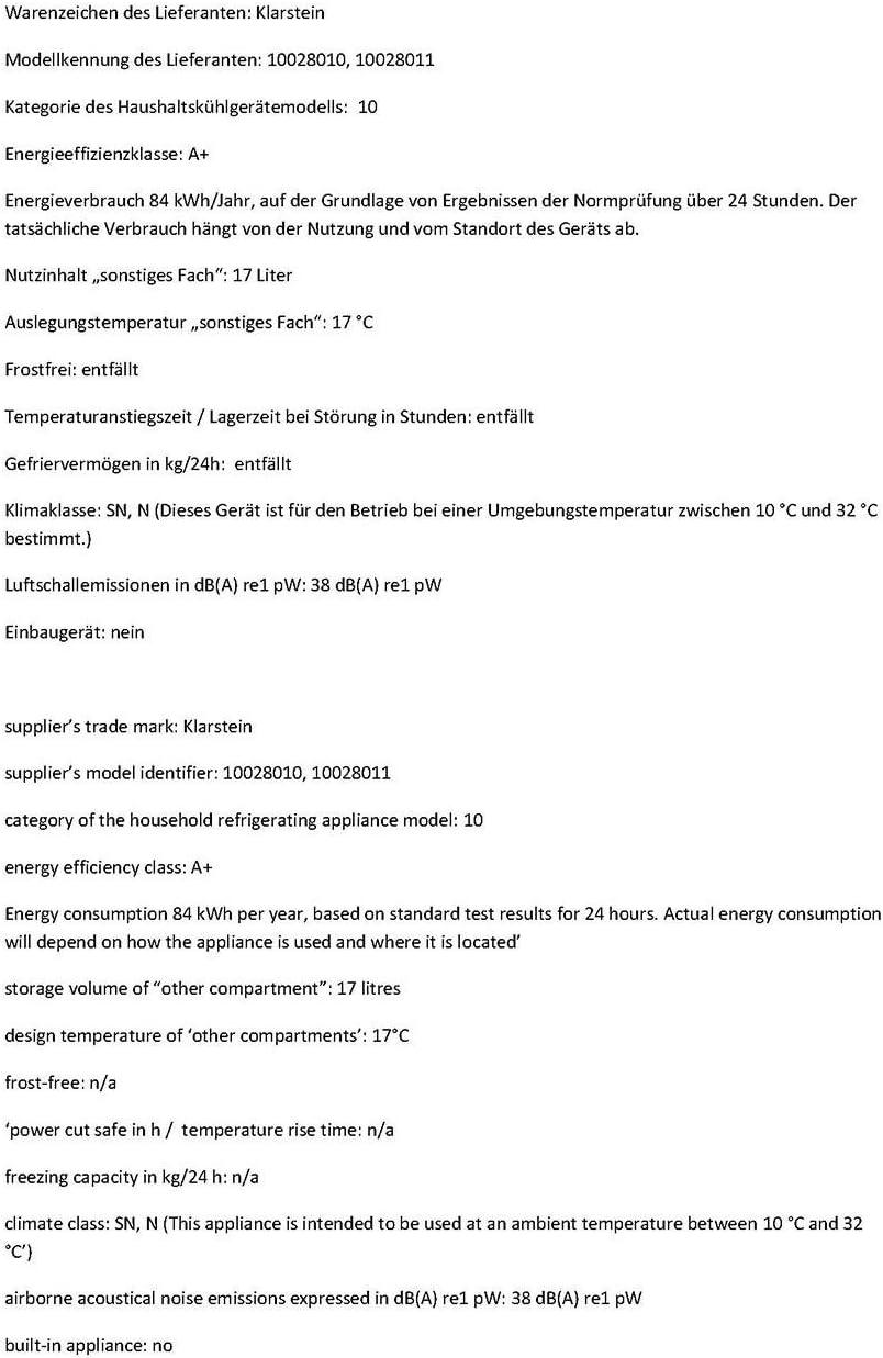 Klarstein Geheimversteck - Minibar, Mini nevera, Nevera para ...