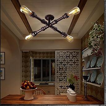 Antike Industrial Wohnzimmerlampe Schwarz Deckenleuchte