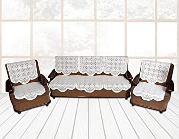 Yellow Weavestm 6 Piece Sofa And Chair Cover Set (White)