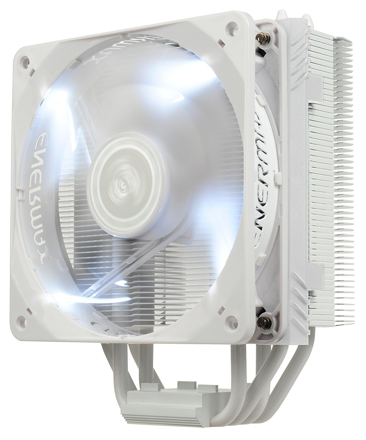 Enermax ETS-T40 Fit Outstanding Cooling Performance CPU Cooler 200W Intel/AMD 120mm Dual Cluster Fans Included, LED Fan - White, ETS-T40F-W
